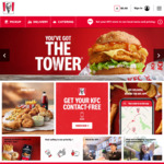 Free Delivery with Purchase of Tower Burger @ KFC App (Excl. ACT)