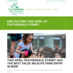 [NSW] Up to 4 Kids Free Entry with Every Adult, Free Adult Ticket with NSW Dine & Discovery Voucher @ Featherdale Wildlife Park