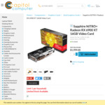 Sapphire NITRO+ Radeon RX 6900 XT 16GB Video Card $1999 + $20 Delivery @ Capitol Computer