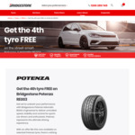 Bridgestone Potenza Adrenalin RE003 Tyres: Buy 3 Get 1 Free @ Bridgestone
