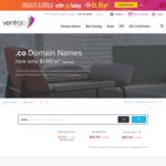 $1.95 1st Year .co Domain Name Registration (Excludes Renewal, Transfer, Premium Names) @ VentraIP Australia