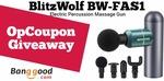 Win a BlitzWolf BW-FAS1 Massage Gun from Opcoupon   Week 81