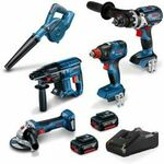 BOSCH 18V Brushless 5 Piece 2x 5.0Ah Combo Kit $799 @ Total Tools