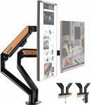 HEYMIX Aluminum Dual Monitor Arm 32'' 2-9kg $76.99, Single Arm $44.09 Shipped, VESA Laptop Tray $32.99 + Post @ AUSELECT Amazon