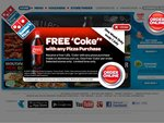 Domino's - Free 1.25lt Coke with Any Pizza Purchase - Can Use in Conjunction with Vouchers