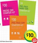 Telstra $30 Prepaid Starter Kit for $10 at Woolworths until Tue 8 Jan / Auspost until Sun 27 Jan