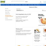 Perth/Adelaide IKEA Thursday Nights - Family Feed 4 Meals for $9.90 Instead of $20.80 after 5pm