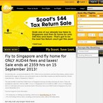 Scoot: Fly Gold Coast to Singapore Full Fare. Return Fare $44 Including Fees and Taxes