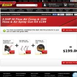 BlackRidge Compressor 2 5HP 40L + Painting Tools [199$ for