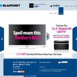 "Blaupunkt 32"" TV with Inbuilt DVD Player + BONUS Digital Radio (Free Delivery) - $399"