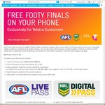 Free NRL and AFL Footy Finals on Your Phone - Data Charges May Apply for Non-Telstra Customers