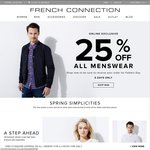 French Connection - All Menswear 25% off - Online Store Only