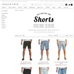 Buy 2 Selected Mens Shorts for The Price of 1 - $49.95ea + $9.95 Delivery or Click/Collect @ Industrie