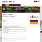 3.5% Cashback @ eBay Australia Sitewide via CashRewards