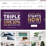 Adairs Linen Lovers: Triple Discount + $20 off $75 Spend - Ends Tomorrow