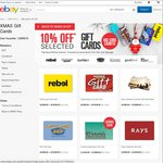 10% off Gift Cards at Rebel, SCA, SurfStitch, BCF and More at eBay