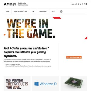 Free Game if You Own Select AMD Products - OzBargain