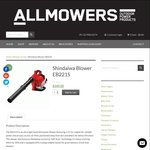 Shindaiwa Leaf Blower EB221S - $339 (Free Delivery Australia Wide) RRP $399 @ Allmowers.com.au