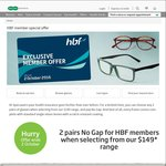 Specsavers - 2 Pairs of Glasses & No Gap for HBF Members When Selecting from Their $149* Range