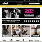 Rebel Sport - 20% off In-Store and Online (1 Day Only)