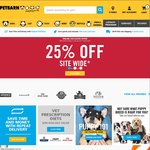 Petbarn 25% off Site Wide (Online Only)