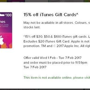 15 Off ITunes Gift Cards At Woolworths
