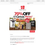 70% off Canvas Prints and Photo Books at Fabness