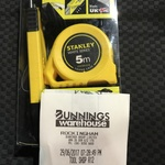 Stanley 18mm Knife and 5m Tape Combo $8 @ Bunnings