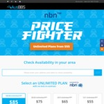 AusBBS Price Fighter Deal NBN 100/40 unlimited @ $85 pm