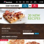 Domino's - 3 Pizzas, Garlic Bread, Coke $26.95 Pickup / $34.95 Delivered