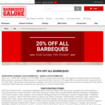 Barbeques Galore - 20% off Barbeques