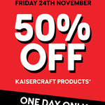 50% off at Kaisercraft Instore Only Black Friday Sale