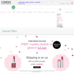 Free Full-Sized Lipstick or Lipgloss with $39 Spend (Combine with Shipster Free Shipping) @ Clinique Online