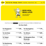 Scoot Sale - $10AUD OFF Selected Flybag and Flybageat Fares