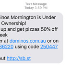 Domino's Mornington (VIC) under New Ownership Week - 14 Dec to 21 Dec - 50% off Certain Pizzas