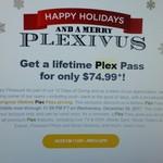 Lifetime Plex Pass for USD $74.99 or AUD $99.99
