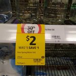 33% off Voss Water at Coles: $2