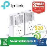 TP-Link TL-PA7010P KIT AV1000 Gigabit Passthrough Powerline Starter Kit - $79.56 Delivered (+ $20 Wish Card) @ Wireless1 eBay