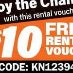 Video Ezy Express Kiosks: Free $10 Rental Voucher KN12394 - Expires Saturday 31st March