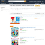 Free Mega Bloks with Your Eligible Huggies Nappies Purchase @ Amazon AU