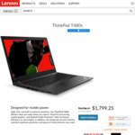 "Lenovo ThinkPad T480S - Intel Core i5-8250U / 14.0"" FHD Touch / 8GB DDR4-2400 / 256GB M.2 SSD 