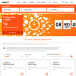 Jetstar Friday Fare Frenzy (One Way, Online Only) from $29 (e.g. Avalon to Adelaide 8 Aug to 12 Sep 18)