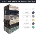 Luxury Living 1000 TC 100% Cotton Sheet Sets 6 Colours in QUEEN ($71.96) & KING ($79.96) with Free Shipping @ Planet Linen eBay