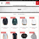Vans up to 50% off Selected Styles Frenzy Sale + Extra 10% Sale Products