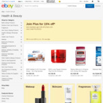 10% - 15% off Health & Beauty Category @ eBay (Min Spend $30)
