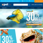 20% off Bird and Small Animal Products, 30% off Fish and Reptile Products @ PETstock (Online Only)