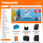 50% off, American Tourister Dartz Suitcases + Extra 5% off + Free Shipping @ Bagworld