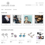 Black Friday | Cufflinks from $7.50 & Free Shipping | 50% off Cufflink Stash