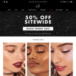 50% off Sitewide Min Order $15 ($30 Before Discount) Free Shipping Min Order $40 @ e.l.f. Cosmetics