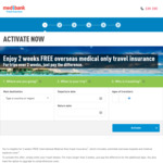 [Medibank Members] 2 Weeks Free Overseas Travel Insurance (Medical Only) for Existing Members @ Medibank Private